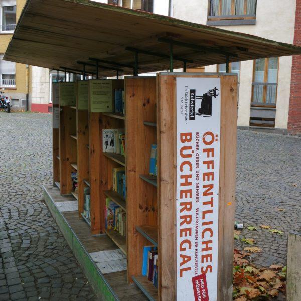 Öffentliches Bücherregal im Kuhviertel in Münster
