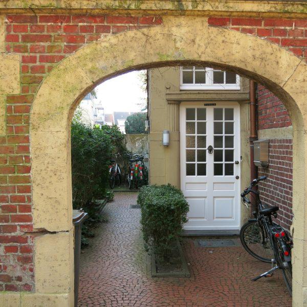 Hauseingang im Mauritzviertel in Münster
