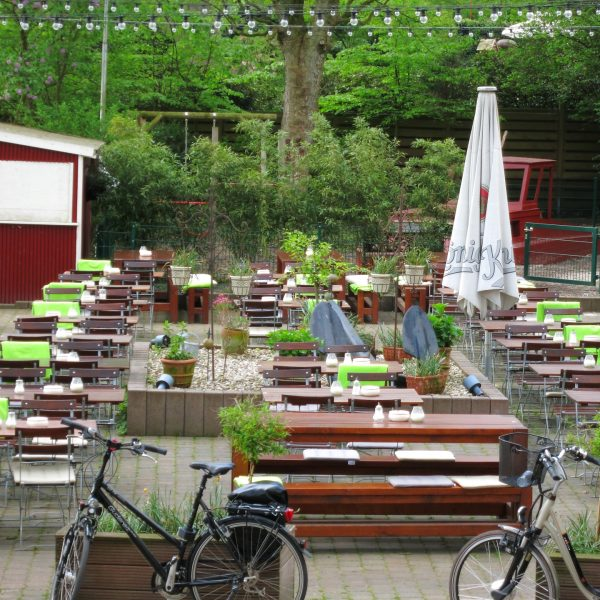 Biergarten am Aasee in Münster