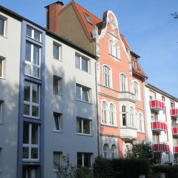 Wohnhäuser im Südviertel in Münster