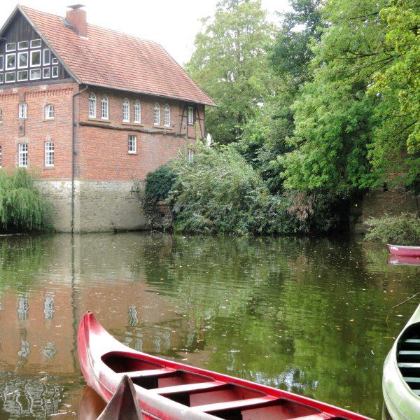 Alte Pleistermühle an der Werse in Münster